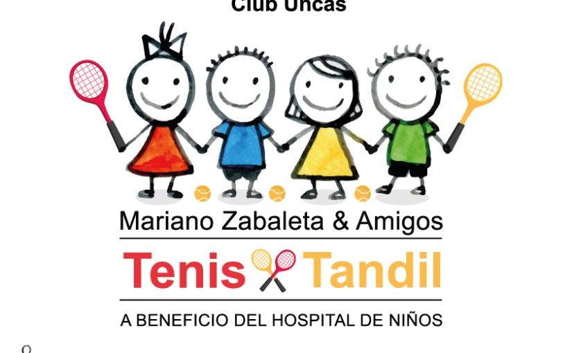 Tenis a beneficio del Hospital de Niños con Mariano Zabaleta yamigos