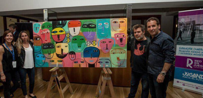 Milo Lockett y una acción solidaria con los tenistas del Challenger de BuenosAires